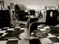 Rosewood Bellflower 1940s barber chair